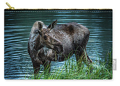 Moose In The Water Carry-all Pouch