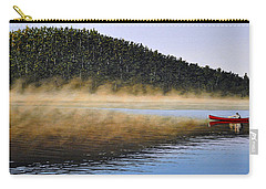 Carry-all Pouch featuring the painting Moose Lake Paddle by Kenneth M  Kirsch