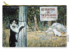 Carry-all Pouch featuring the painting More Civil Disobedience by Donna Tucker