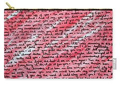 More Than Words Carry-all Pouch by Jean Haynes