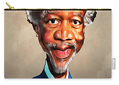 Morgan Freeman Carry-all Pouch by Anthony Mwangi
