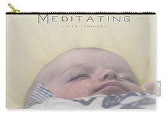 Carry-all Pouch featuring the photograph Morgan Meditating 2 by Vicki Ferrari