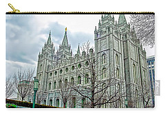 Mormon Temple In Early Spring Carry-all Pouch
