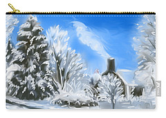 Carry-all Pouch featuring the painting Morning After The Snowstorm  by Jean Pacheco Ravinski