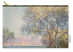 Morning At Antibes Carry-all Pouch by Claude Monet