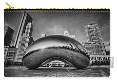 Morning Bean In Black And White Carry-all Pouch
