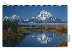 Morning Cloud Layer Oxbow Bend In Fall Grand Tetons National Park Wyoming Carry-all Pouch