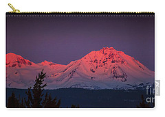 Morning Dawn On Two Of Three Sisters Mountain Tops In Oregon Carry-all Pouch