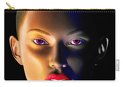 Carry-all Pouch featuring the digital art Morning Dew by Anthony Mwangi