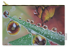 Carry-all Pouch featuring the painting Morning Dew by Dianna Lewis