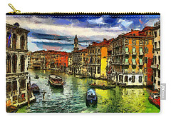 Carry-all Pouch featuring the painting Beautiful Morning In Venice, Italy by Georgi Dimitrov