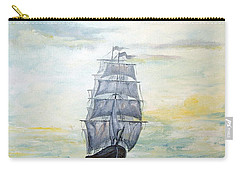 Carry-all Pouch featuring the painting Morning Light On The Atlantic by Lee Piper