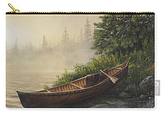 Carry-all Pouch featuring the painting Morning Mist by Kim Lockman