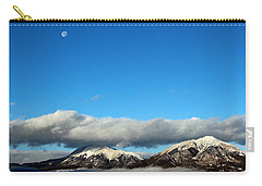 Carry-all Pouch featuring the photograph Morning Moon Over Spanish Peaks by Barbara Chichester