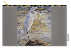 Morning Perch-egret Carry-all Pouch