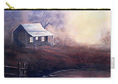 Carry-all Pouch featuring the painting Morning Reflections by Hazel Holland