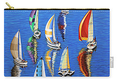 Carry-all Pouch featuring the painting Morning Reflections by Jane Girardot