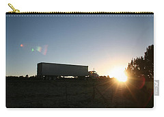 Carry-all Pouch featuring the photograph Morning Run by David S Reynolds