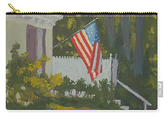 Morning Sun On Old Glory Carry-all Pouch