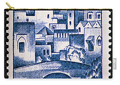 Morocco Vintage Postage Stamp Carry-all Pouch by Andy Prendy