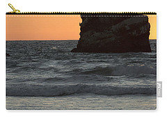 Morro Beach Sunset Carry-all Pouch by Terry Garvin