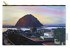 Morro Rock At Night Carry-all Pouch