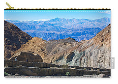 Carry-all Pouch featuring the photograph Mosaic Canyon Picnic by Stuart Litoff