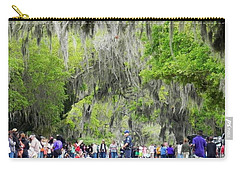 Moss And Massive Crowd Carry-all Pouch by Patricia Greer