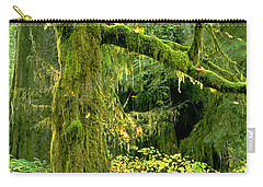Carry-all Pouch featuring the photograph Moss Draped Big Leaf Maple California by Dave Welling