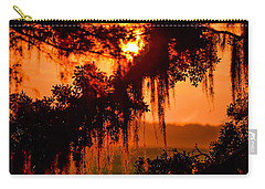 Moss Meets Sun  Carry-all Pouch by Mary Ward
