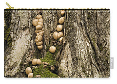 Carry-all Pouch featuring the photograph Moss-shrooms On A Tree by Carol Lynn Coronios