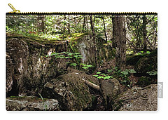 Mossy Rocks In The Forest Carry-all Pouch