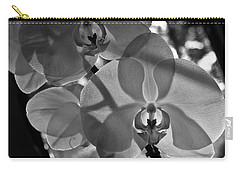 Carry-all Pouch featuring the photograph Moth Orchid Backlit by Ron White