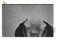 Carry-all Pouch featuring the photograph Moth Orchid Bw by Ron White