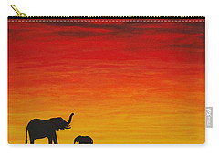 Carry-all Pouch featuring the painting Mother Africa 1 by Michael Cross