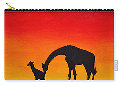 Carry-all Pouch featuring the painting Mother Africa 2 by Michael Cross