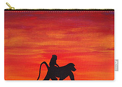 Carry-all Pouch featuring the painting Mother Africa 4 by Michael Cross
