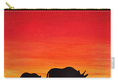 Carry-all Pouch featuring the painting Mother Africa 5 by Michael Cross