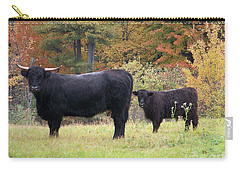 Carry-all Pouch featuring the photograph Highland Cattle  by Eunice Miller
