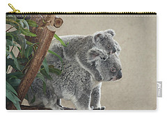 Mother And Child Koalas Carry-all Pouch by John Telfer