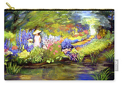 Carry-all Pouch featuring the painting Mother And Daughter by Gail Kirtz