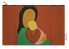 Mother And Daughter Carry-all Pouch