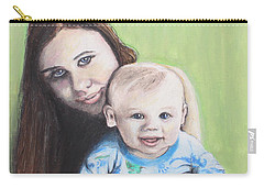 Mother And Son Carry-all Pouch by Jeanne Fischer