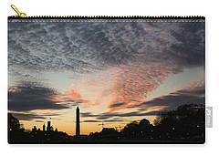 Mother Nature Painted The Sky Over Washington D C Spectacular Carry-all Pouch by Georgia Mizuleva
