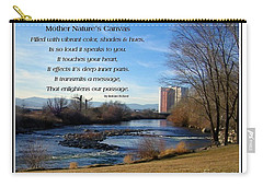 Carry-all Pouch featuring the photograph Mother Natures Canvas by Bobbee Rickard