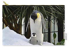 Mother Penguin And Baby Carry-all Pouch