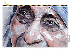 Mother Theresa Watercolor Carry-all Pouch by Laur Iduc