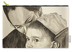 Carry-all Pouch featuring the painting Mother's Love by Tamir Barkan