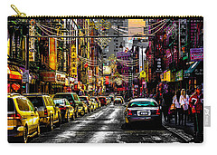 Carry-all Pouch featuring the photograph Mott Street by Chris Lord