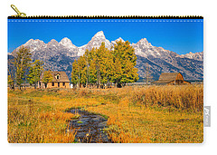 Carry-all Pouch featuring the photograph Moulton Homestead by Greg Norrell